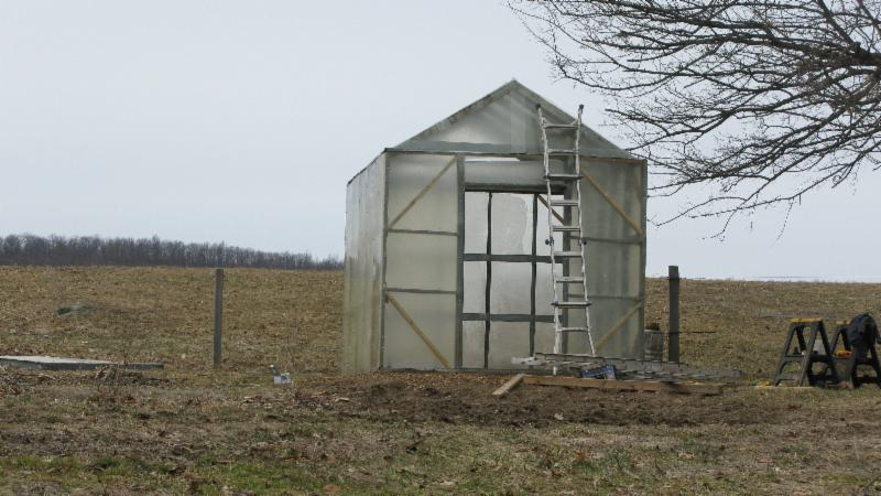 Vernon Valley Farm - Completed Greenhouse